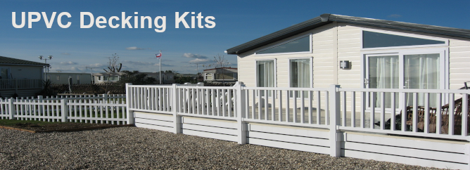 UPVC Decking Kits for Static Caravans & Holiday Homes